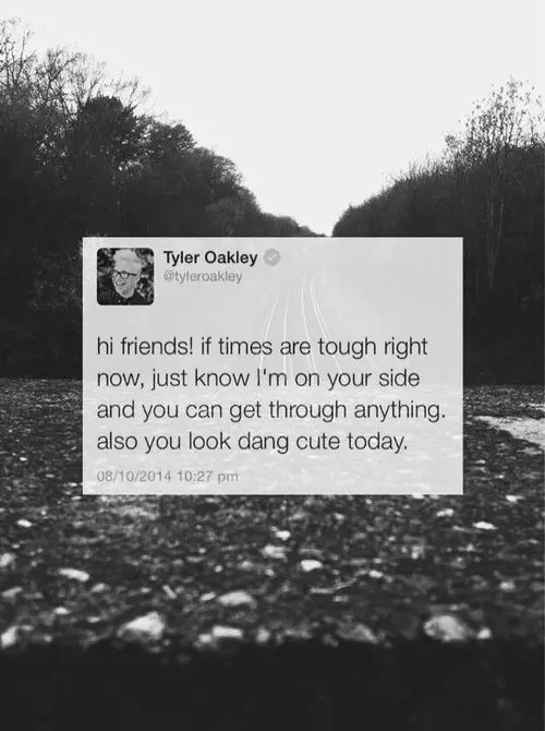 Tyler oakly message  on We Heart It