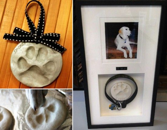 Dog Paw Print Ornament Tutorial - can use as ornament then as pet memorial or keep as ornament