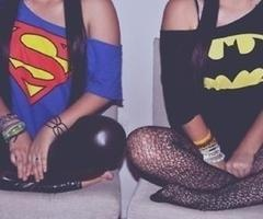 Be a superhero ;)Teen Fashion, Best Friends, Superman, Shirts, Bestfriends, Funny Girls, Batman, Super Girls, Superhero