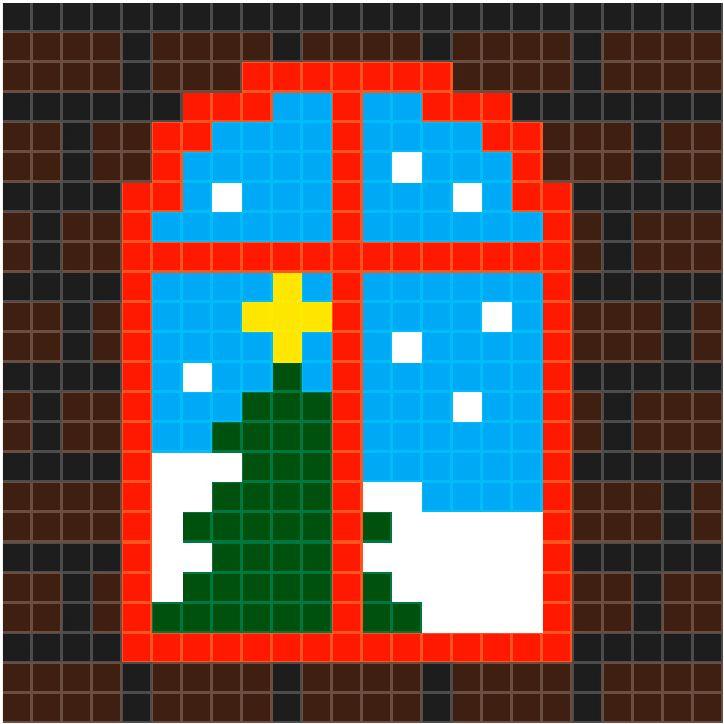 Raam kerstboom | Pixel Party