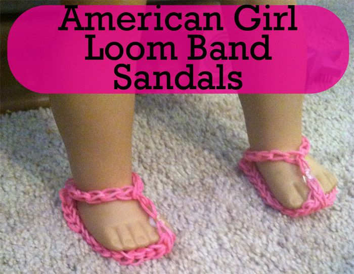 How To Make Rainbow Loom American Girl Doll Shoes