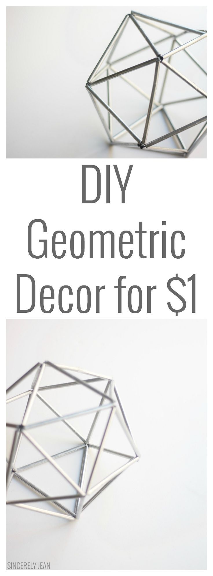 DIY Geometric Decor for $1