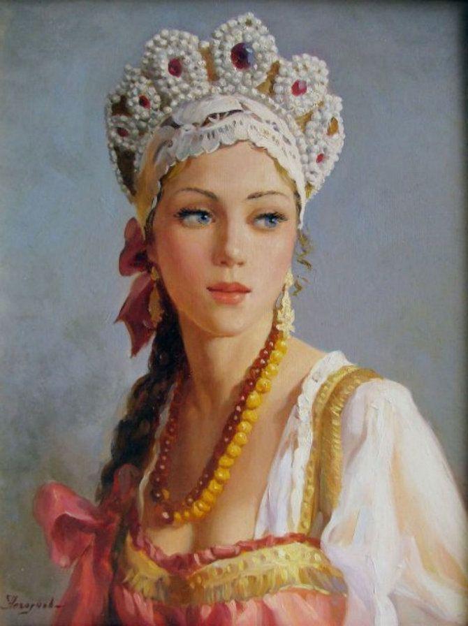 Картинки русская красавица в кокошнике