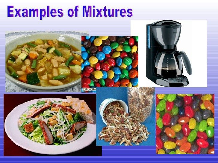 image result for examples of mixtures