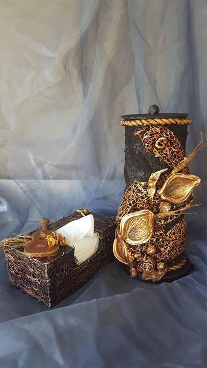 Tokreen toiletrolhouder & tissuebox - Martie Aucamp