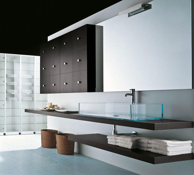 #KAROL | k08 | lavabo in cristallo #bagnoarredo #sink #interni #ideebagno www.gasparinionline.it