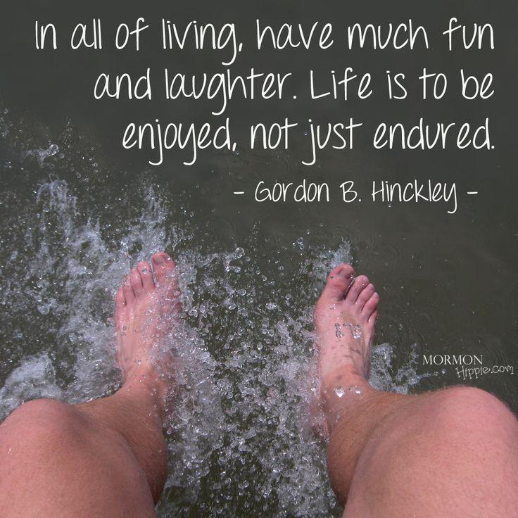 Mormon Hippie -- Have fun and joy, Gordon B. Hinckley ...// Photo by: SamHakes