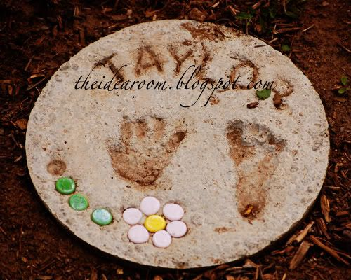 17 best images about grandparents gardens on pinterest for Diy garden stepping stones