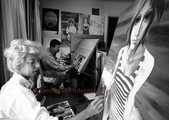Big Eyes Walter Keane & Margaret Keane Painting by worldwidefoto