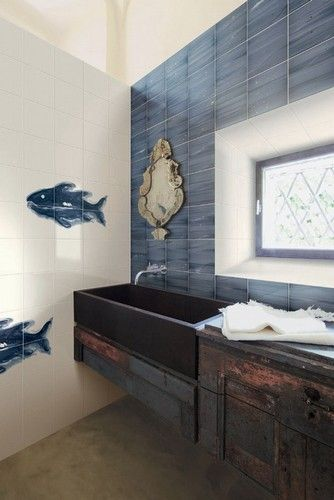 Marcello Chiarenza - Il pesce celeste #decoro #fatto a mano #designo #ceramicabardelli #arte