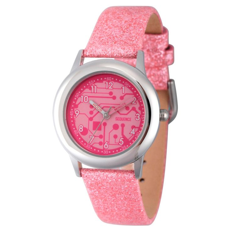 Girls' Discovery Channel Stainless Steel Time Teacher Wristwatch - Pink, Girl's