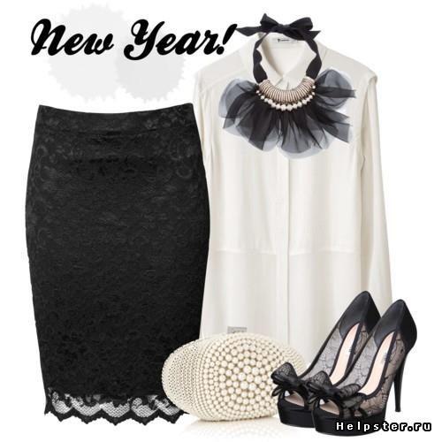 Черная кружевная юбка купить