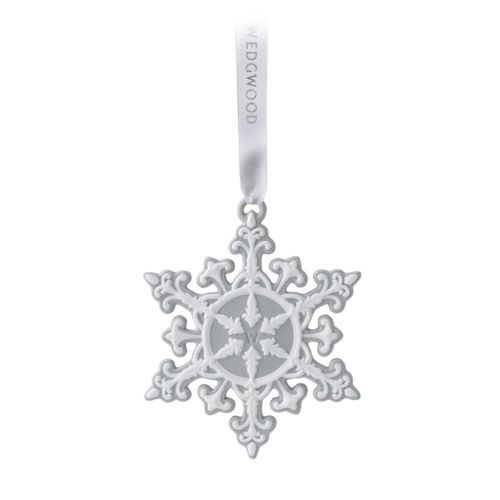NEW-Wedgwood-Christmas-Grey-Neoclassical-Snowflake-Ornament