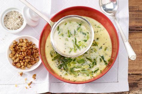 Lauch-Käse-Suppe mit Baumnüssen - Annemarie Wildeisen's KOCHEN