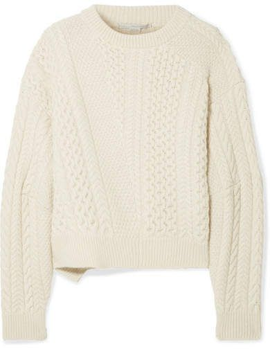 e329e8524b15d0 Stella McCartney - Oversized Cable-knit Wool And Alpaca-blend Sweater -  Cream