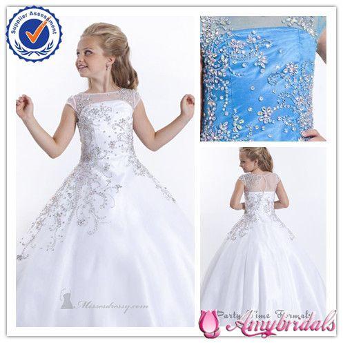 SA4602 Flower Girl Dress Patterns Cap Sleeve Flower Girl Dresses for 7 Year Olds Formal Flower Girl Dress