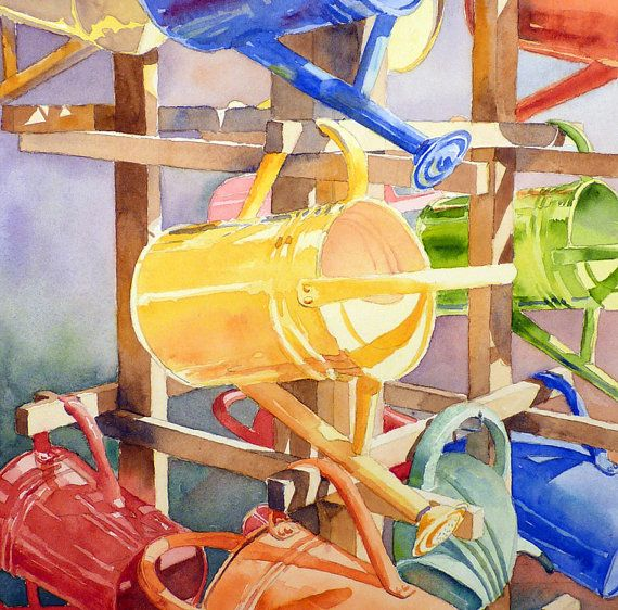 Garden Art Original Watercolor Painting by WatercolorByMuren, $400 Sold  by ugallery.com
