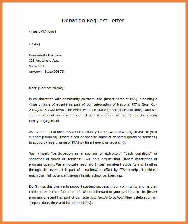 Fundraising Thank You Letter Donation Letter Template Donation