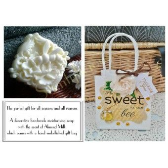 Honey Bee decorative handmade soap in a Gift bag