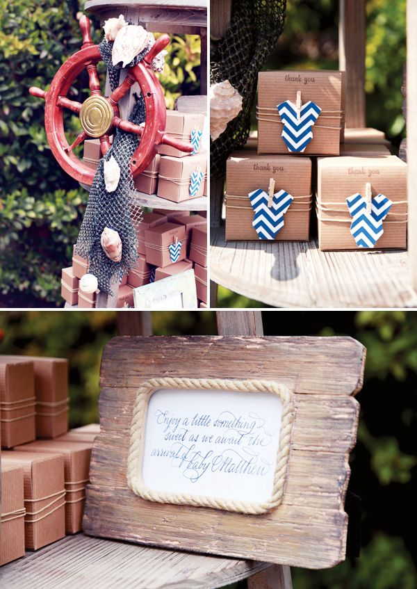 Rustic & Elegant Nautical Baby Shower - Hostess with the Mostess®
