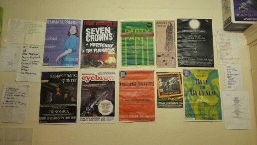 Vertually every group on this wall are local to Bath #rmtmusicproductions