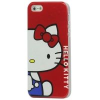 Θήκη iphone 5 & 5S Hard Hello Kitty κόκκινη