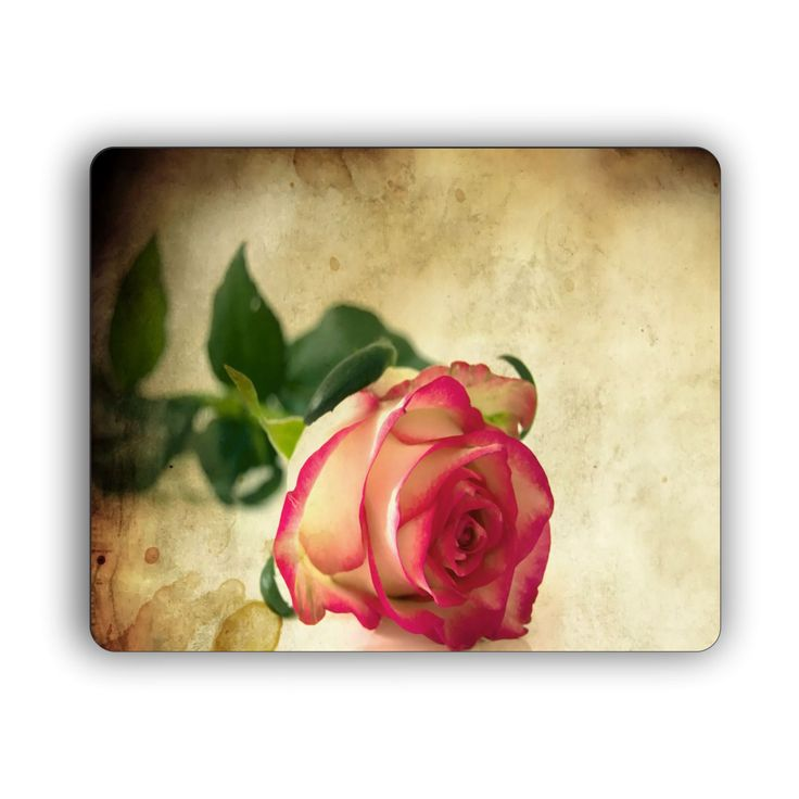 #etsy shop: Single Rose Computer Mouse Pad http://etsy.me/2DPexYO #housewares #homedecor #rose #flower #art #office #work #home #bedroom