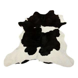 Calfskin Rug - Black & White, Matt Blatt