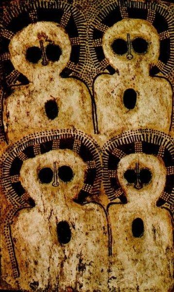Wandjina Petroglyphs - Kimberly, Australia, approx. 5000 yrs old.: