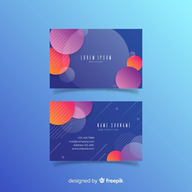 Download Colorful Business Card Template For Free Colorful Business Card Business Card Template Free Business Card Templates