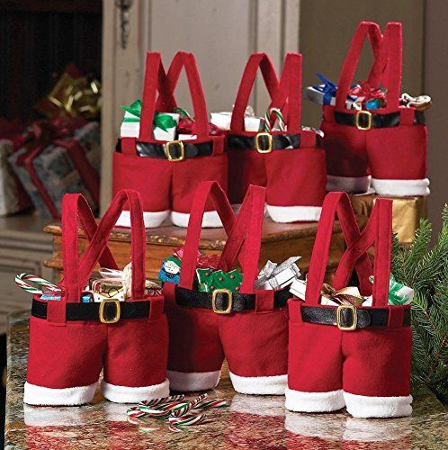 Dealzip Inc Santa Claus Pants Gift And Treat Bags Christmas Candy Bag Xmas Party DecorationSet of 6 * This is an Amazon Affiliate link. Learn more by visiting the image link.