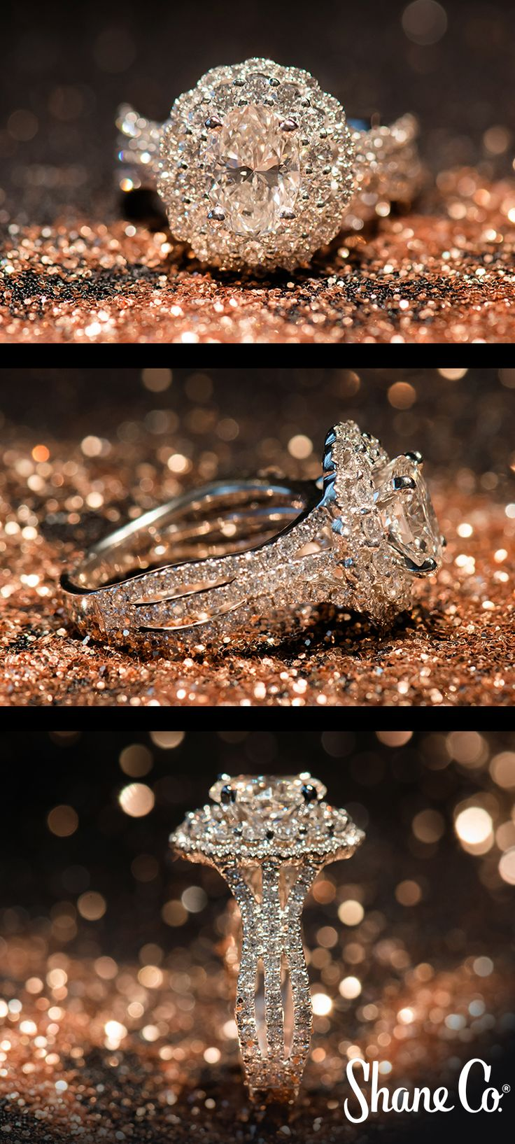 """Still searching for """"the one""""? Browse hundreds of exclusive halo engagement ring styles at Shane Co. and find the perfect one for your style."""