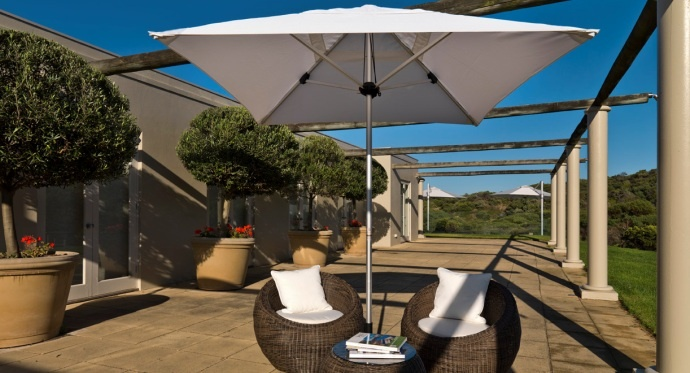 Bistro Outdoor Market Umbrella - Residential Setting
