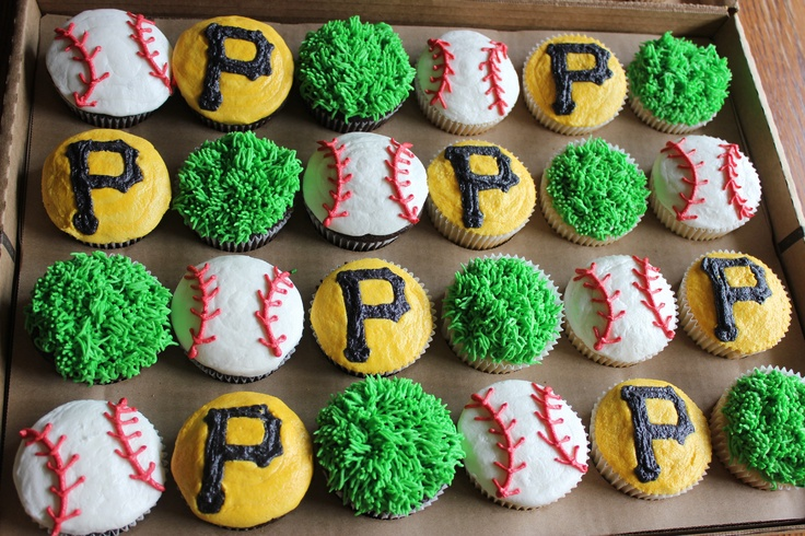 Pittsburgh Pirates cupcakes #BUCtober #PittsburghPirates #LetsGoBucs