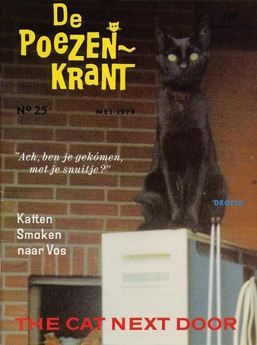 De Poezenkrant #25    May, 1979  Featuring DROPJE van Fulpen on front cover (photo taken in Tuitjenhorn)