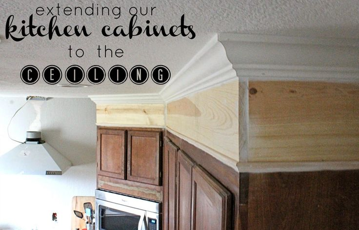 Step by step on how we extended out kitchen cabinets to the ceiling!