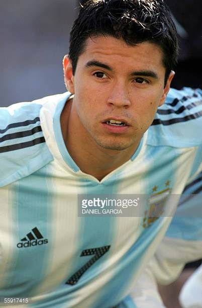 Javier Saviola Argentina's soccer national team player 02 June 2004 AFP PHOTO / Daniel GARCIA