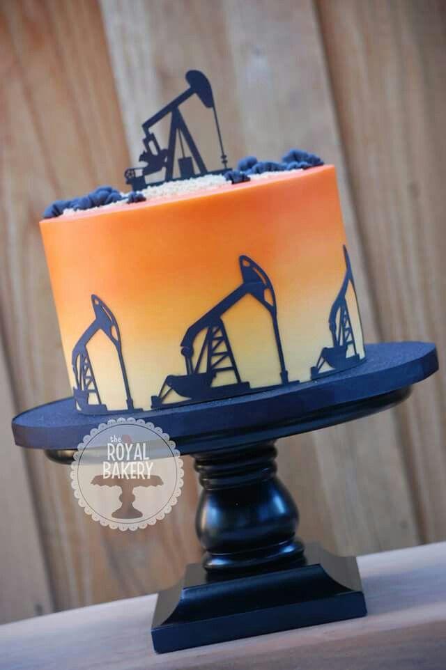 Oil rig cake
