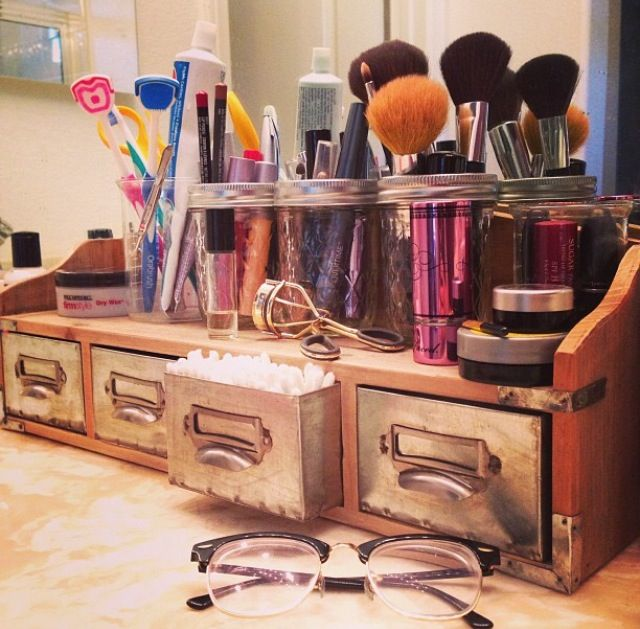 Bathroom Makeup Storage