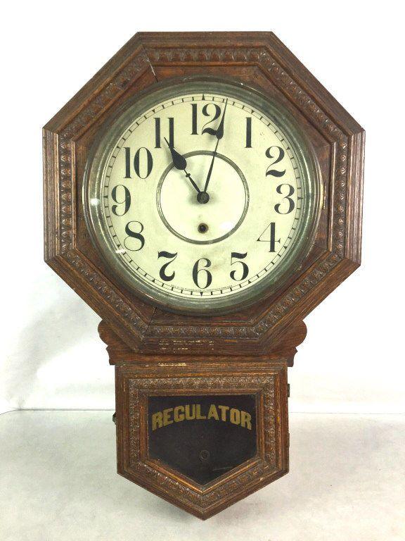 Vtg. Sessions Regulator Pendulum Wall Clock Lot 2177