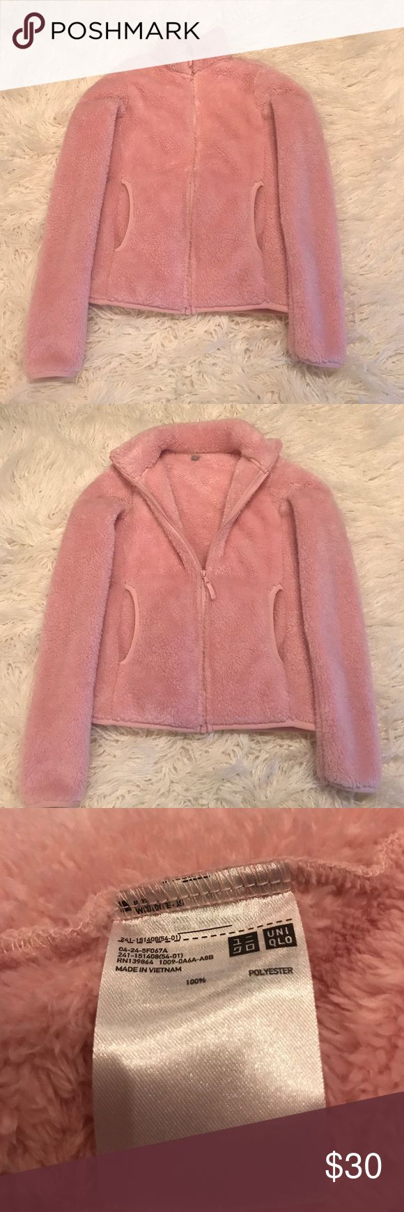 Fuzzy jacket Uniqlo fluffy soft jacket Uniqlo Jackets & Coats