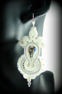 soutache wedding earrings montownia monity