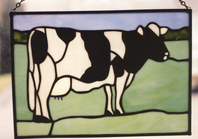 Cow stained glass Country Life