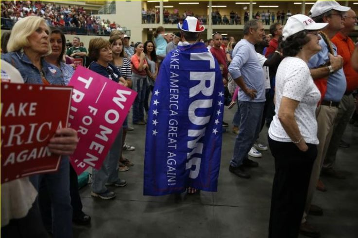 A supporter of Republican presidential nominee Donald Trump is pictured during a campaign event in Concord, North Carolina, U.S. November 3,  2016.   REUTERS/Carlo Allegri