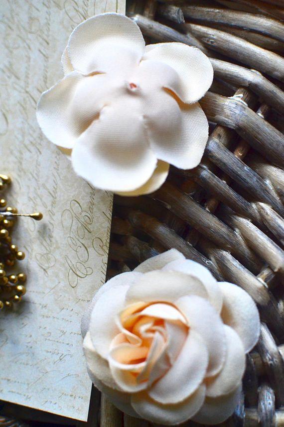 Hohe Qualität! Hübsche wunderschöne Pfirsich schäbigen schicken Stoff/Kunstseide, Rosen/Blumen für Haare Handwerk, Hochzeitsdekoration, Geschenk-Dekoration, andere Dekoration, Scrapbooking, Nähen und andere DIY Craft-Projekte. Farbe: Pfirsich (Farbton kann variieren leicht von den