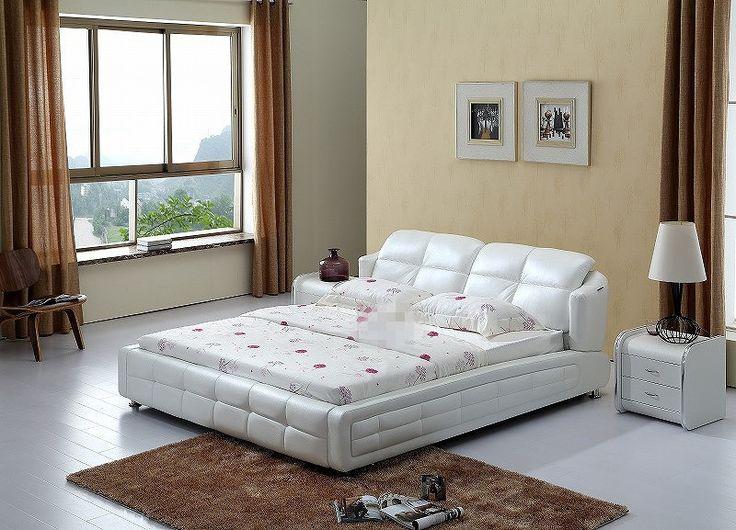 Contemporary King size in vera pelle moderna per il tempo libero morbido letto mobili camera da letto in Cina