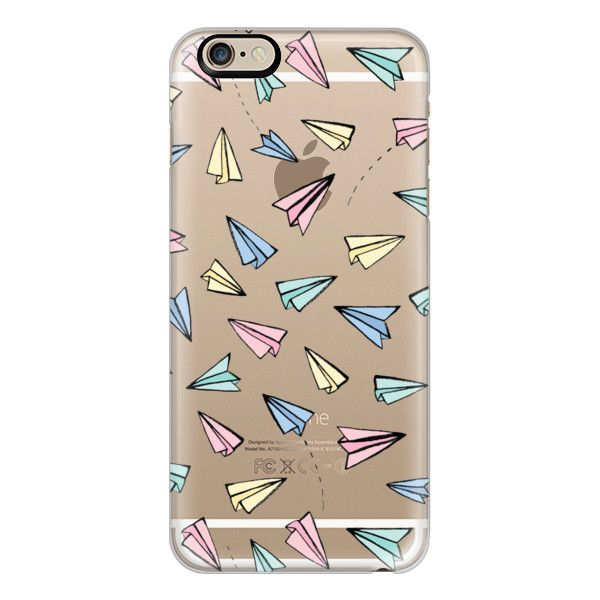 iPhone 6 Plus/6/5/5s/5c Case - Paper Planes in Pastel on Clear (£27) ❤ liked on Polyvore featuring accessories, tech accessories, phone cases, phones, cases, handy, iphone case, clear iphone cases, iphone cover case e apple iphone cases