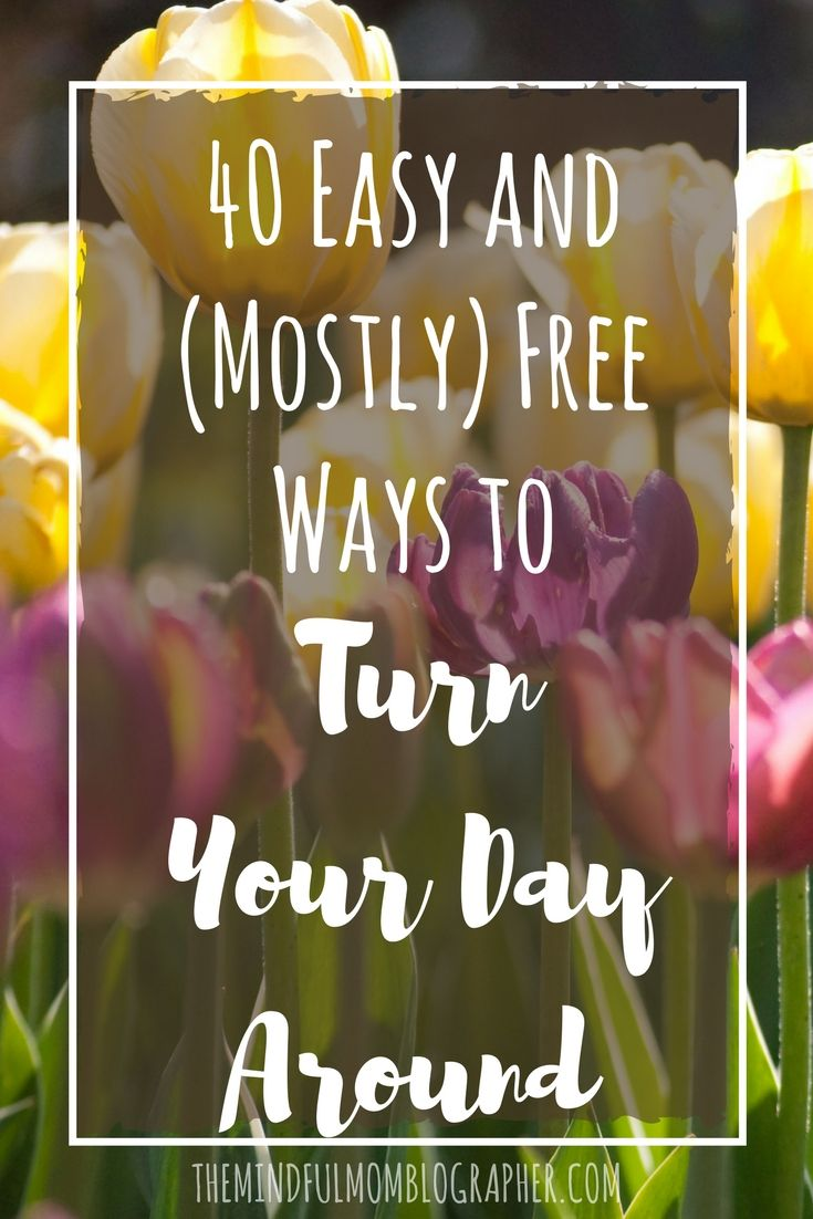 Have you ever found yourself in a funk? Who hasn't? Sometimes when you're in a funk and in need of a good boost, it can be hard to get motivated to do, well anything. That's where this list comes in. I've compiled 40 easy and (mostly) free ways to turn your day around because let's face it, your time, energy and mental health are all too precious to spend in a funk. Combine some of these together for a day of self-care, or pick just one or two if you're in need of a qu...