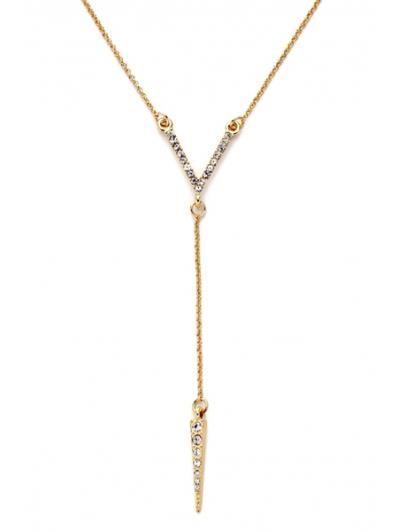 Collar pendiente de diamantes de imitación de la bala