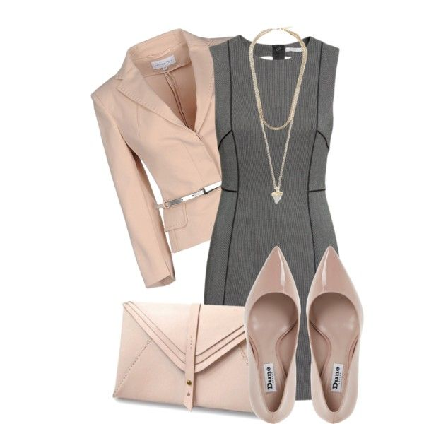 A fashion look from September 2015 featuring fitted dresses, pink jacket und high heeled footwear. Browse and shop related looks.